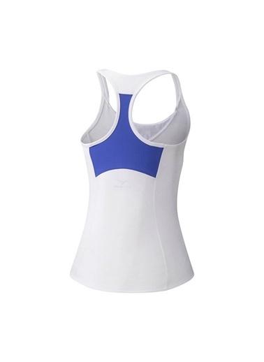 Mizuno Printed Tank Kadın T-shirt Beyaz Beyaz